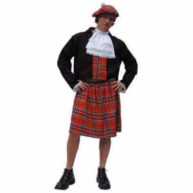 Schotse kilt kostuum carnavalskleding