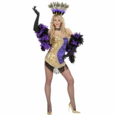 Showgirl kostuums paars goud carnavalskleding