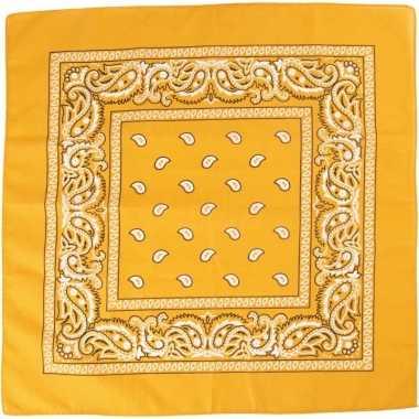 Sjaal geel met printcarnavalskleding