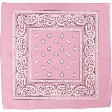 Sjaal roze met printcarnavalskleding