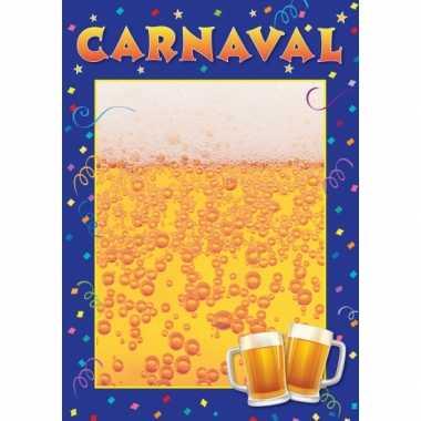 Sjabloon poster carnaval carnavalskleding