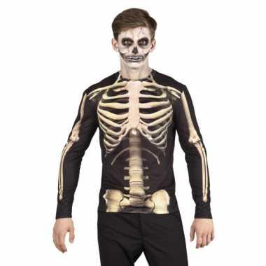 Skeletten herenshirt carnavalskleding