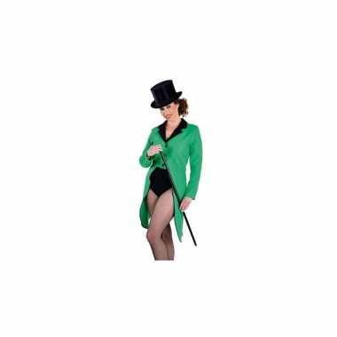 Slipjas groen voor damescarnavalskleding