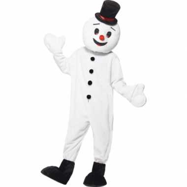Sneeuwman mascotte outfit carnavalskleding
