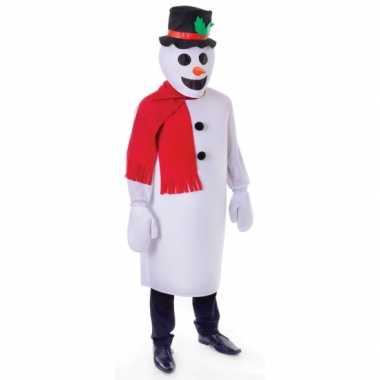 Sneeuwpop kostuum voor volwassenen carnavalskleding