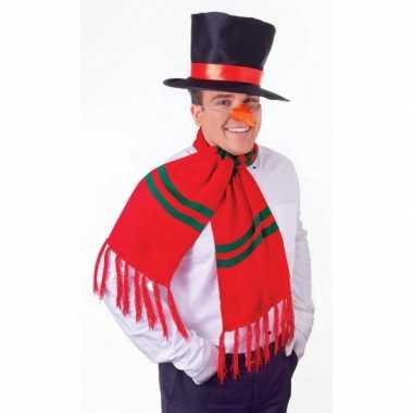 Sneeuwpop setje voor volwassenen carnavalskleding