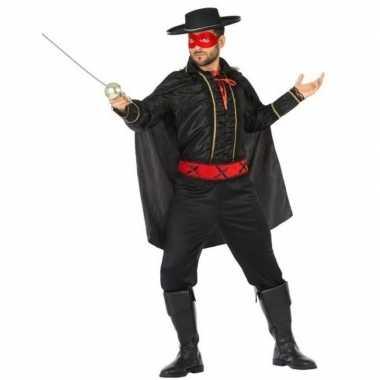 Spaanse held zwart/rood verkleed kostuum voor herencarnavalskleding