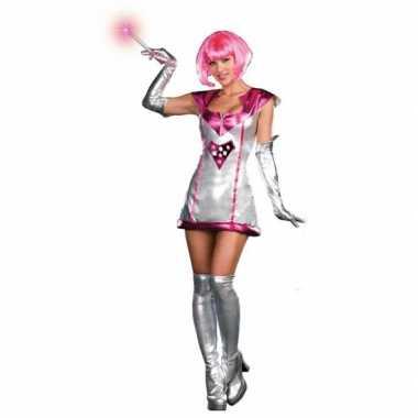 Space verkleedkleding jurkje met lichtcarnavalskleding