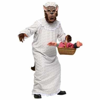 Sprookjesverhaal kostuum boze wolfcarnavalskleding