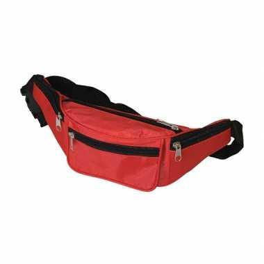 Super voordelige heuptassen in rode kleurcarnavalskleding