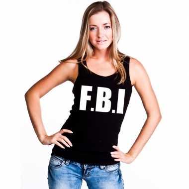 Tanktop fbi dames zwartcarnavalskleding