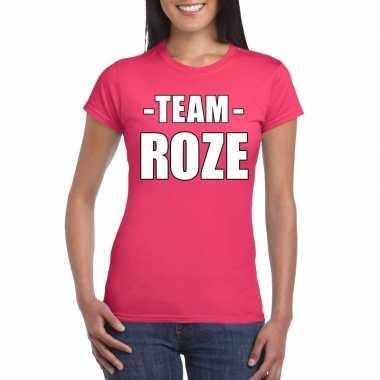 Team shirt roze dames voor bedrijfsuitje carnavalskleding