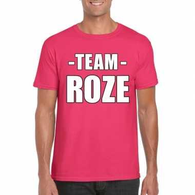 Team shirt roze heren voor bedrijfsuitje carnavalskleding