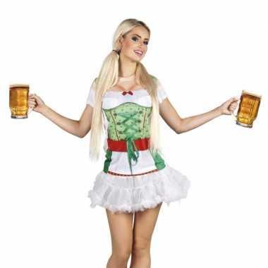 Tiroler heidi oktoberfest damesshirt carnavalskleding