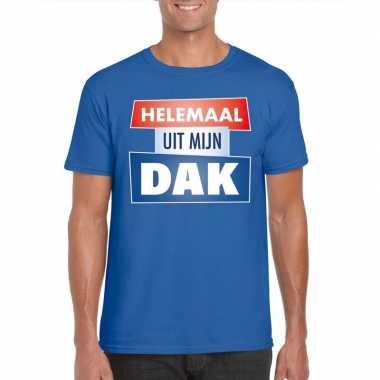 Toppers - blauw helemaal uit mijn dak t-shirt herencarnavalskleding