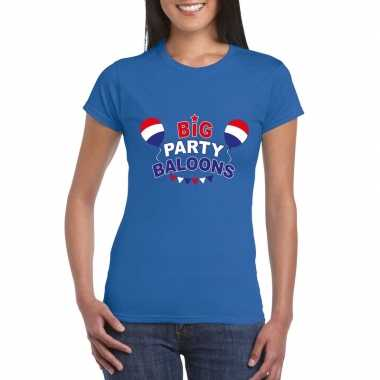 Toppers - blauw toppers big party balloons dames t-shirt carnavalskle