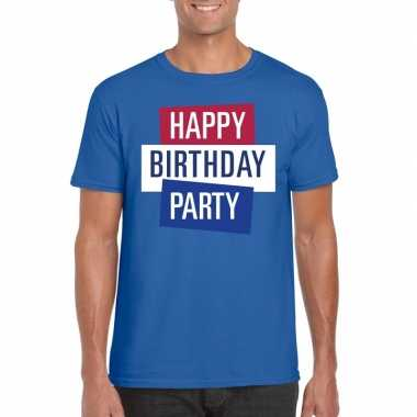 Toppers - blauw toppers happy birthday party heren t-shirt officieelc