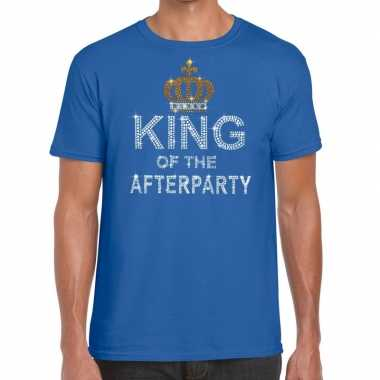 Toppers - blauw toppers king of the afterparty glitter t-shirt herenc