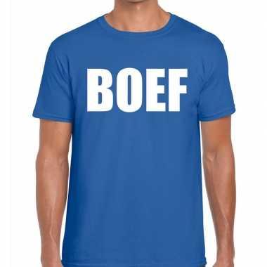 Toppers - boef heren t-shirt blauwcarnavalskleding