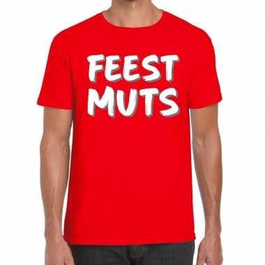 Toppers - feestmuts fun t-shirt rood herencarnavalskleding