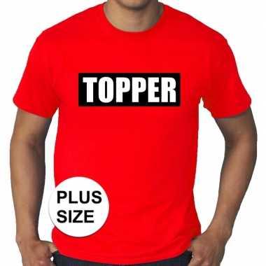 Toppers - grote maten topper in kader t-shirt rood herencarnavalskled