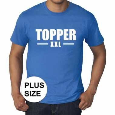 Toppers - grote maten topper xxl t-shirt blauw herencarnavalskleding