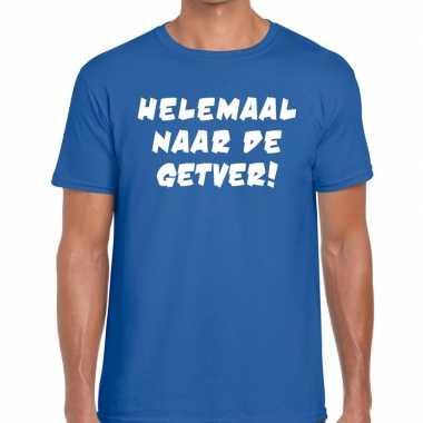 Toppers - helemaal naar de getver heren t-shirt blauwcarnavalskleding