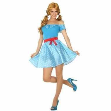 Toppers - jaren 50 verkleed kostuum/jurkje voor damescarnavalskleding