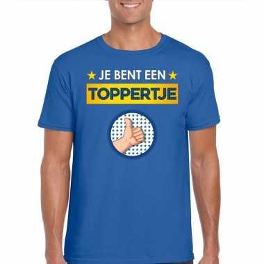Toppers - je bent een toppertje t-shirt blauw herencarnavalskleding