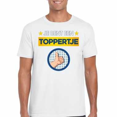 Toppers - je bent een toppertje t-shirt wit herencarnavalskleding