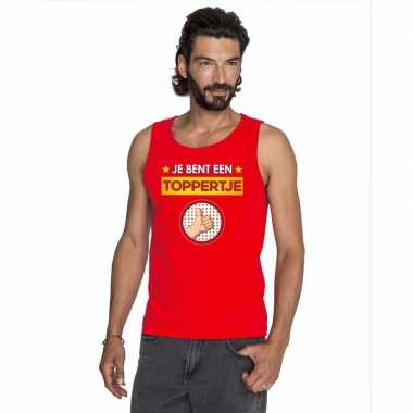 Toppers - je bent een toppertje tanktop/ mouwloos shirt rood herencar