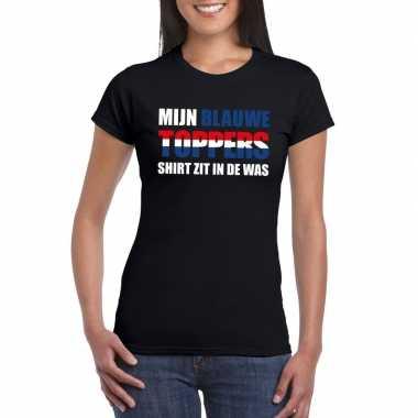 Toppers - mijn blauwe toppers shirt zit in de was t-shirt zwart dames
