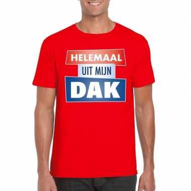 Toppers - rood helemaal uit mijn dak t-shirt herencarnavalskleding