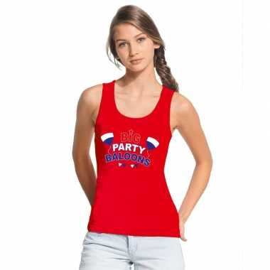Toppers - rood toppers big party balloons mouwloos shirt damescarnava