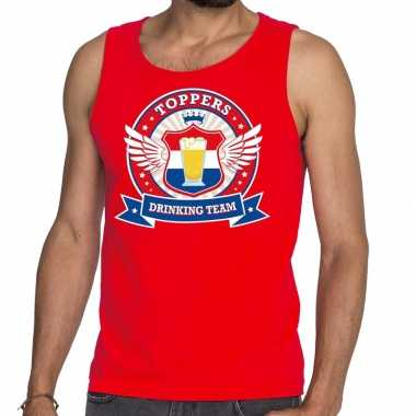 Toppers - rood toppers drinking team tankop / mouwloos shirt herencar