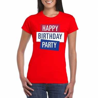 Toppers - rood toppers happy birthday party dames t-shirt officieelca