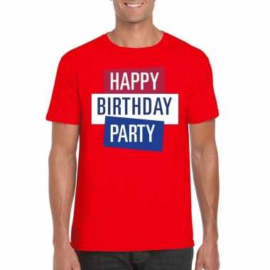 Toppers - rood toppers happy birthday party heren t-shirt officieelca