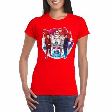 Toppers - rood toppers in concert 2019 officieel t-shirt damescarnava