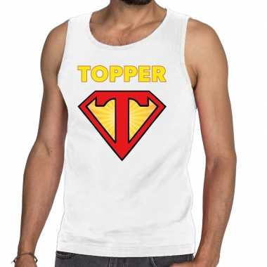 Toppers - super topper logo tanktop / mouwloos shirt wit herencarnava
