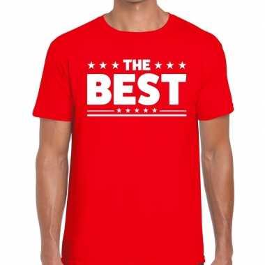 Toppers - the best heren t-shirt roodcarnavalskleding