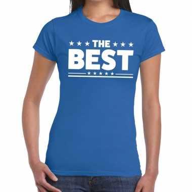 Toppers - the best tekst t-shirt blauw damescarnavalskleding