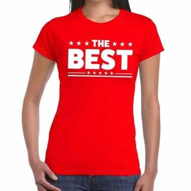 Toppers - the best tekst t-shirt rood damescarnavalskleding