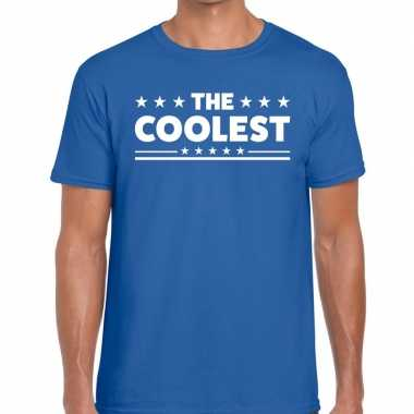 Toppers - the coolest heren t-shirt blauwcarnavalskleding