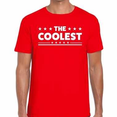 Toppers - the coolest heren t-shirt roodcarnavalskleding