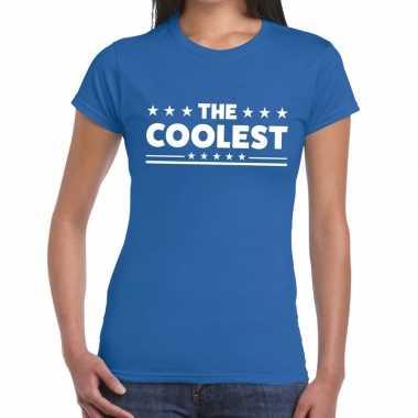 Toppers - the coolest tekst t-shirt blauw damescarnavalskleding