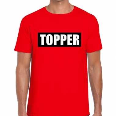 Toppers - topper in kader t-shirt rood herencarnavalskleding