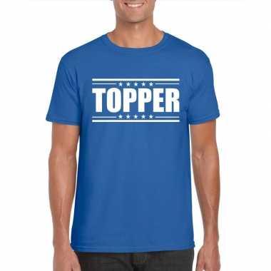 Toppers - topper t-shirt blauw herencarnavalskleding