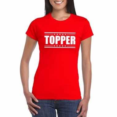 Toppers - topper t-shirt rood damescarnavalskleding