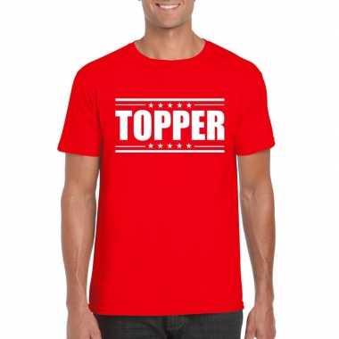 Toppers - topper t-shirt rood herencarnavalskleding
