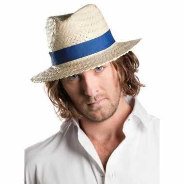 Toppers - voordelige panama hoed met bandcarnavalskleding
